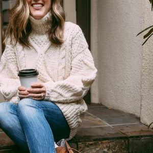Vintage Fisherman's Sweater | Cream | 100% Wool